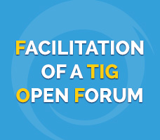 Facilitation of a TIG Open Forum